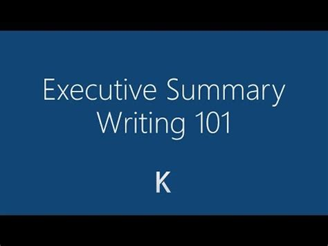 Learn How to Write an Executive Summary With an Example